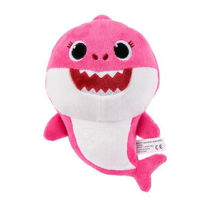 Baby Shark pluche knuffel 15cm roze