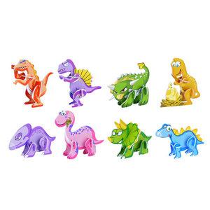 3D Puzzels Dinosaurus 8 stuks