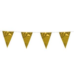 Vlaggenlijn goudkleurig 10 meter