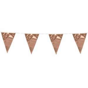 Vlaggenlijn slinger rosé goud 10 meter