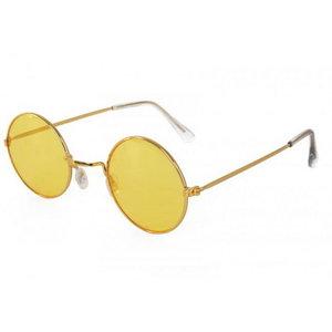 Bril hippie met geel gekleurd glas