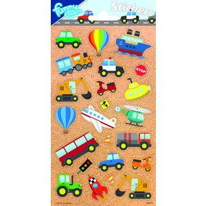 Stickers On the road voertuigen 23 stuks
