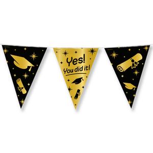 Vlaggenlijn Yes! you did it! zwart goud
