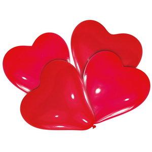 Hart ballonnen rood 25 stuks