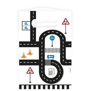 Uitdeelzakjes on the road papier 8 stuks