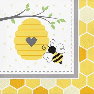 Servetten bij met honingraat