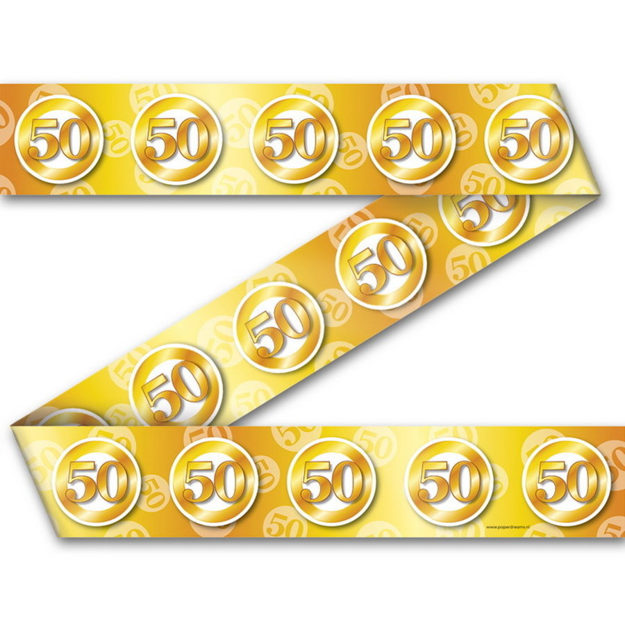 Afzetlint 50 goudkleurig
