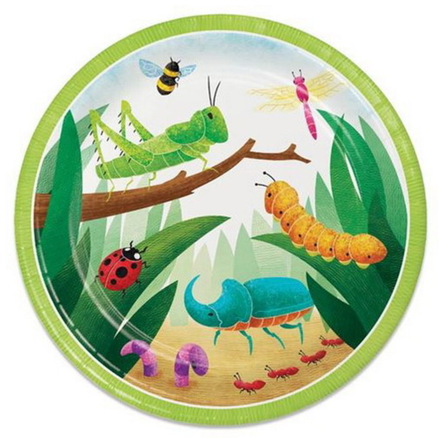 Bordjes insecten 8 stuks