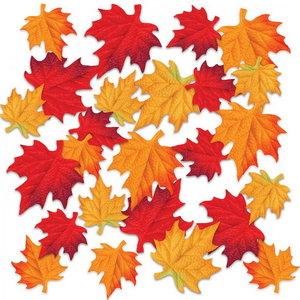 Herfstbladeren stof zeer luxe 48 stuks