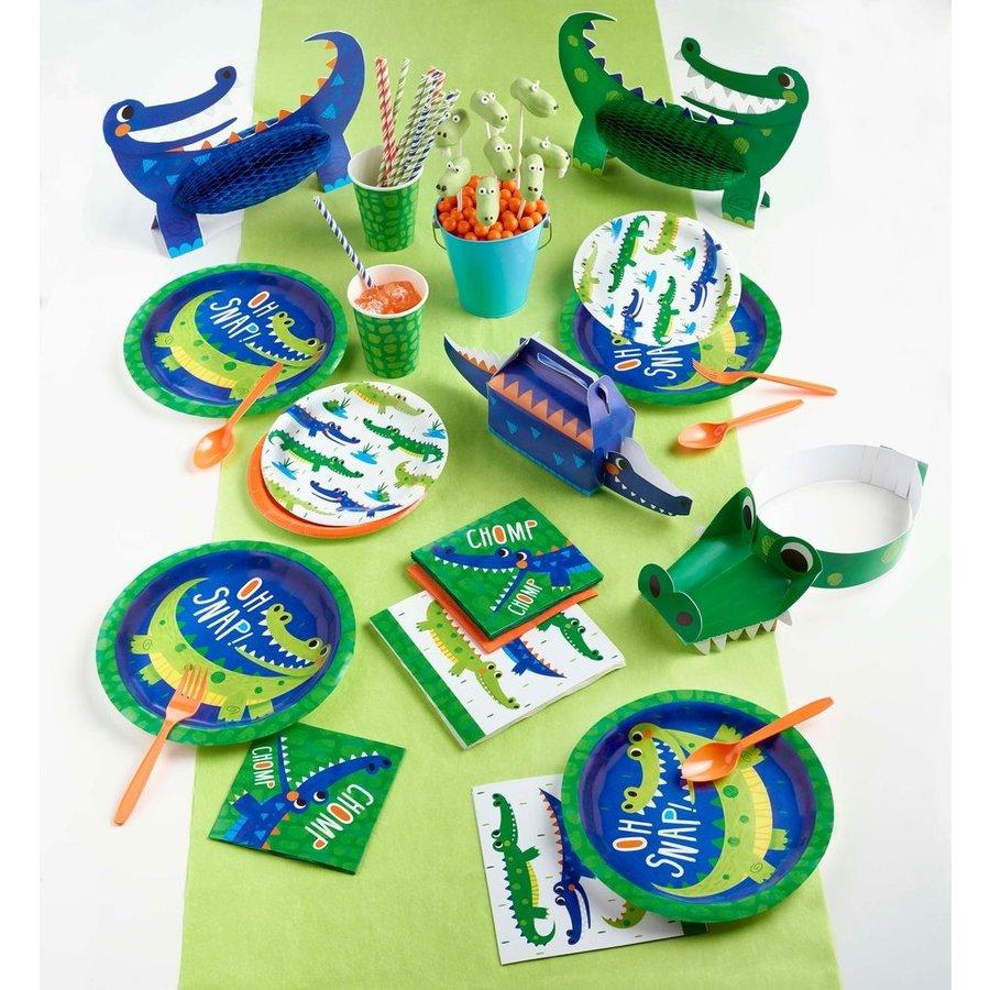 Bordjes Krokodillen Party 8 stuks