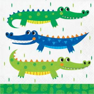 Servetten Krokodillen Party 16 stuks