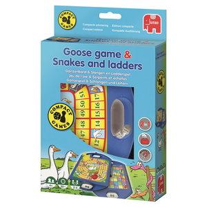 Ganzenbord en Ladderspel compact edition