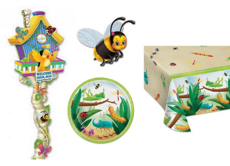 Insecten versiering voor een biologische kinderverjaardag