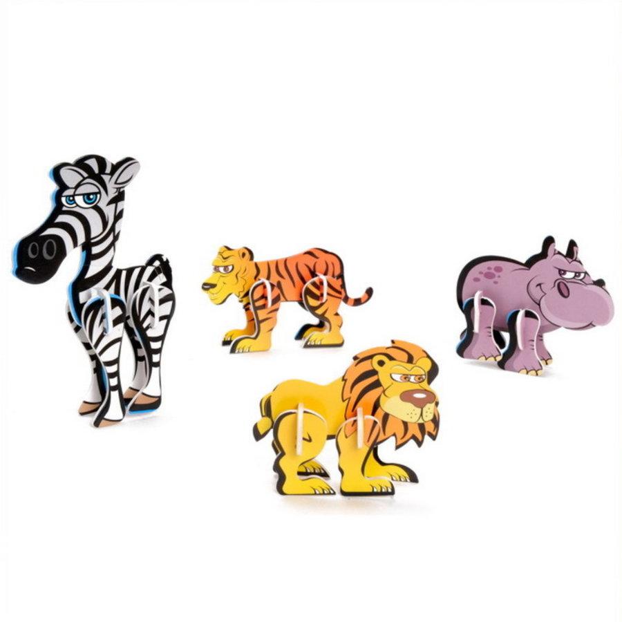 3D puzzel dieren 8 stuks