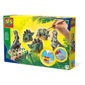 Gieten en schilderen - Dino's