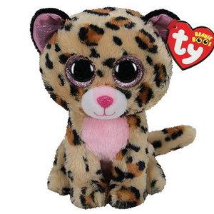 Ty Beanie plucheknuffel Livvie luipaard 24cm