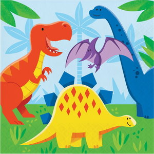 Servetten Dino Friends 16 stuks