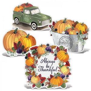 Tafeldecoraties Herfst Thankful 4 stuks