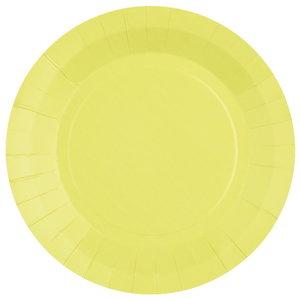 Bordjes pastel lichtgeel 10 stuks
