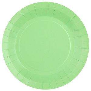 Bordjes pastel lichtgroen 10 stuks