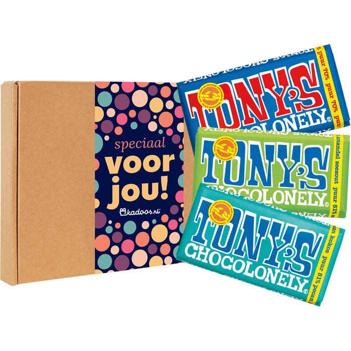 Tony's Chocolonely Chocoladebox Proeverijtje Vegan Puur