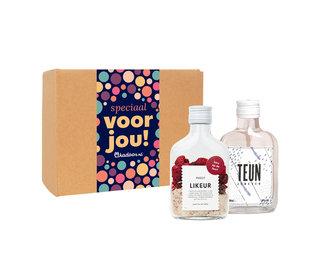 Cadeaupakket Kers op de Taart Zakflacon + Teun