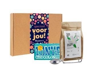 Brievenbusbox Jasmine Green Puur Pecan/Kokos