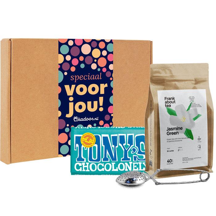 Frank About Tea Brievenbusbox Jasmine Green Puur Pecan/Kokos