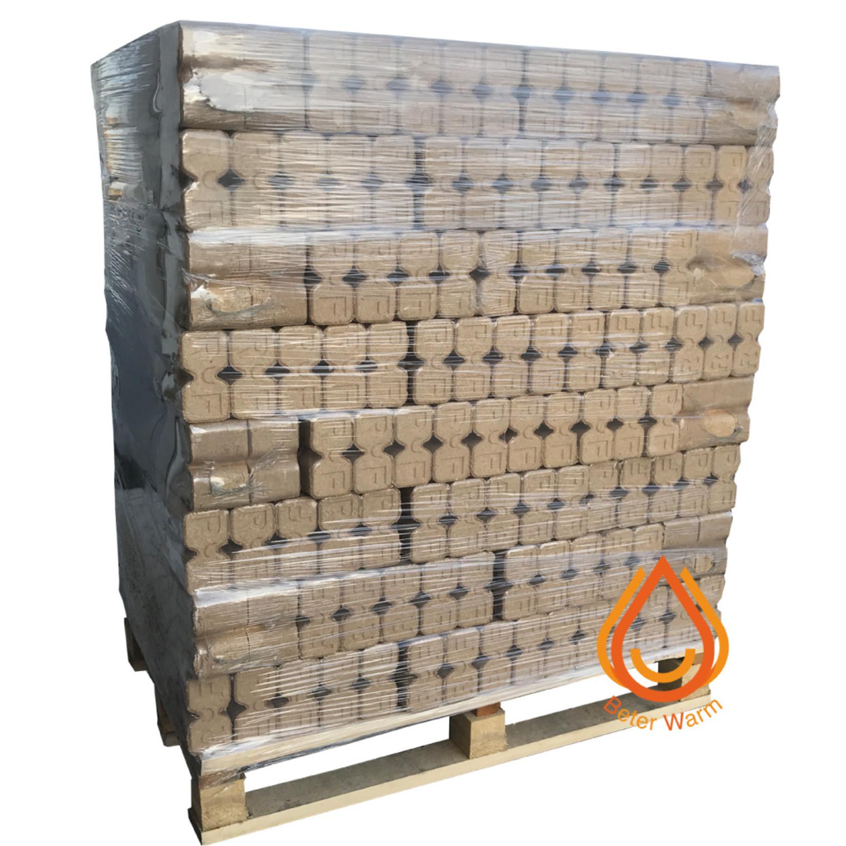 BeterWarm Pallet Ruf Premium XXL houtbriketten 100% eik.