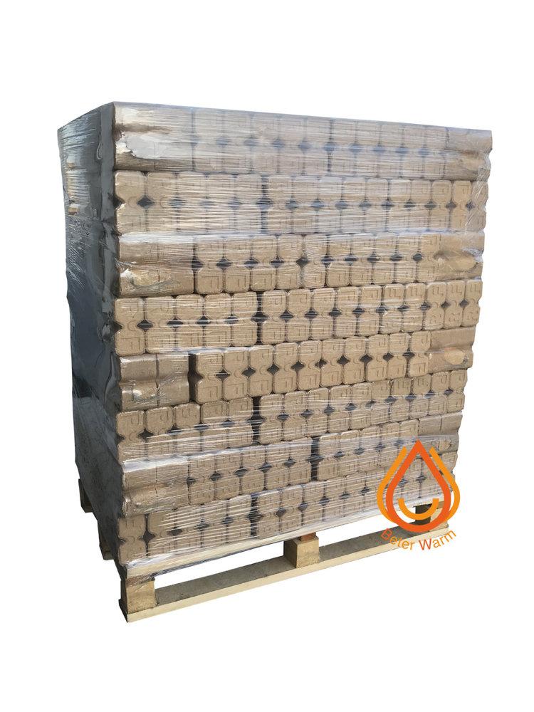 BeterWarm Pallet Ruf 5* Premium XXL houtbriketten 100% eik.