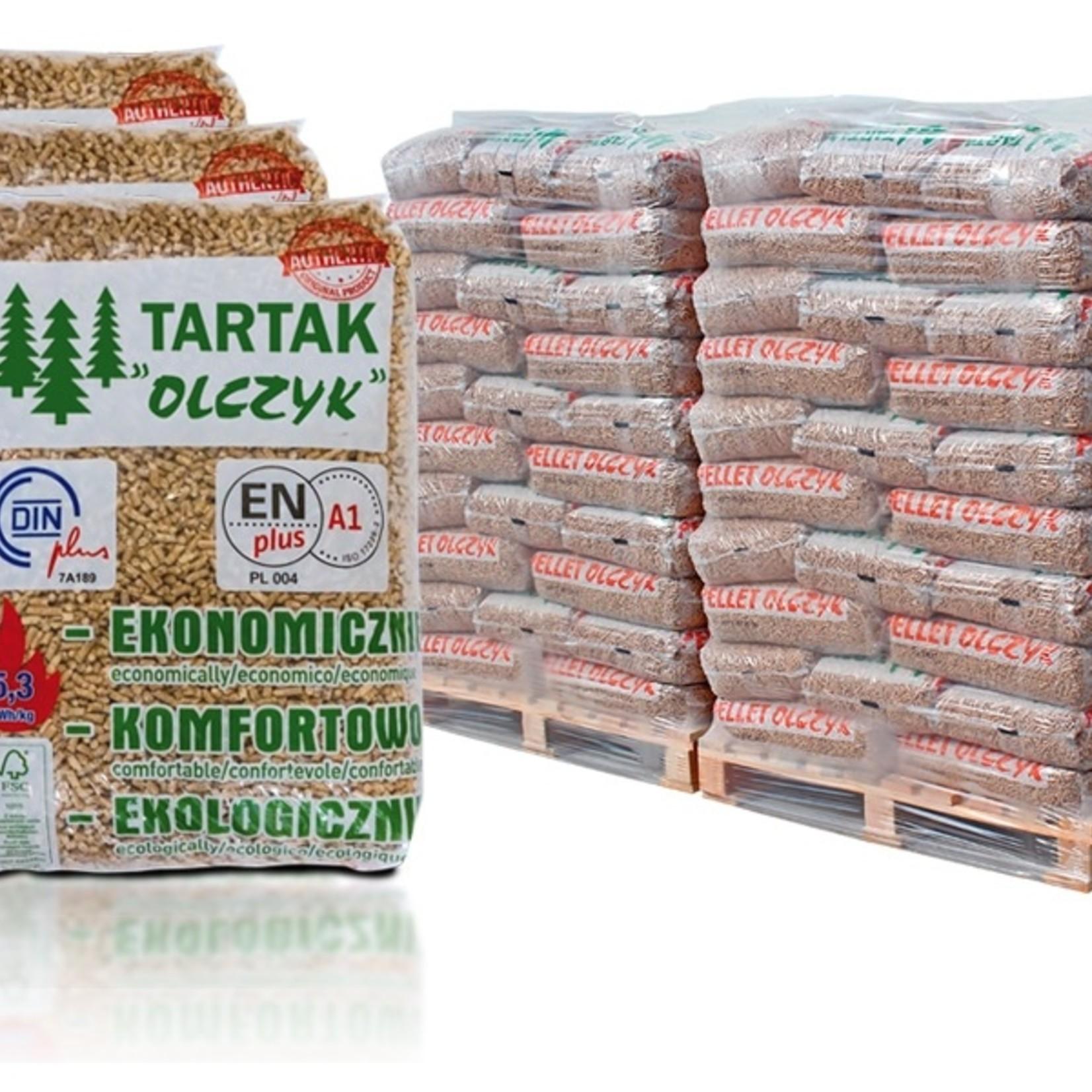 Tartak Tartak 100% naaldhout Pellet EN+ A1 per pallet 480 kg.