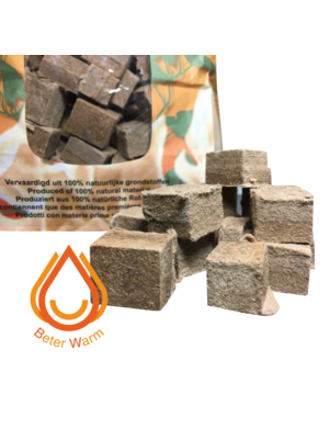BeterWarm Bruine Eco-Aanmaakblokjes 192 stuks