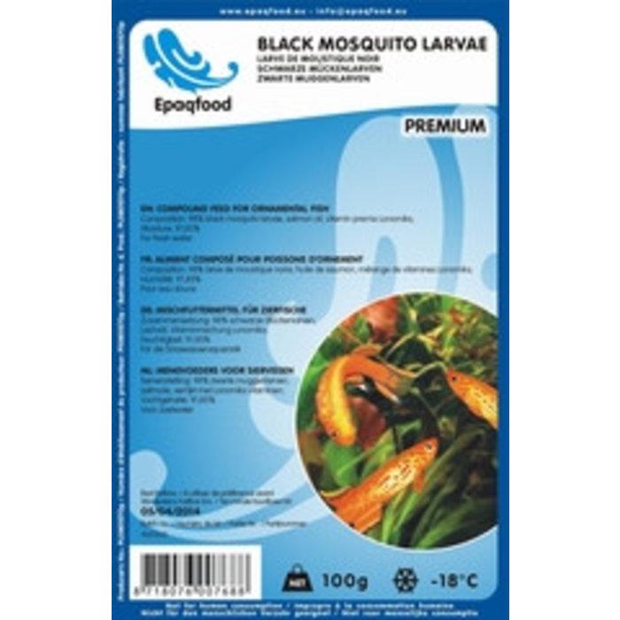 Larves de moustiques noirs