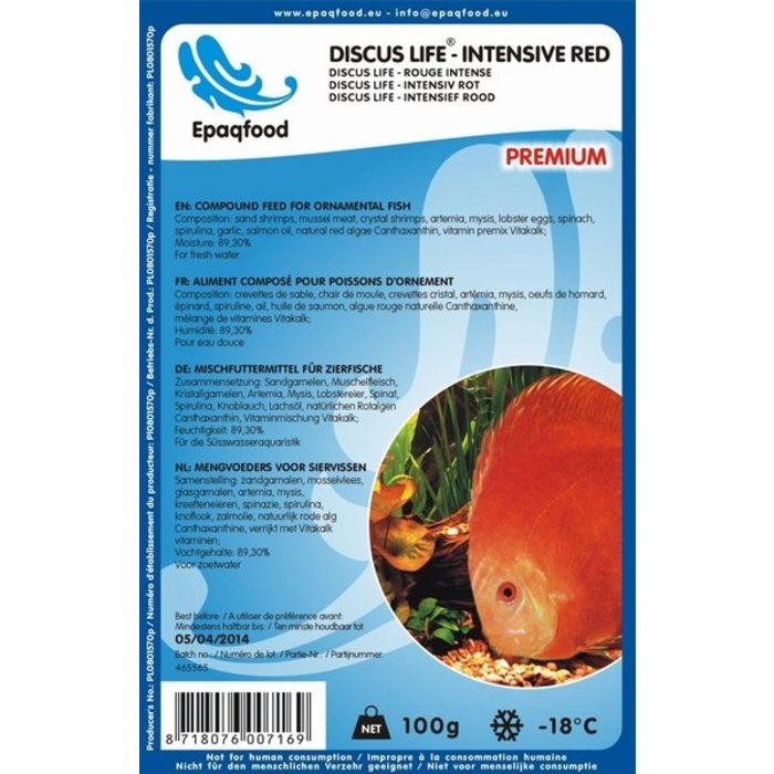 Discus Life - Intensief Rood