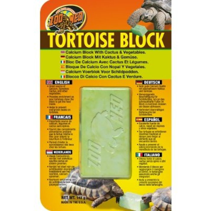 Zm Tortoise Block With Opuntia Cactus And Vegetables
