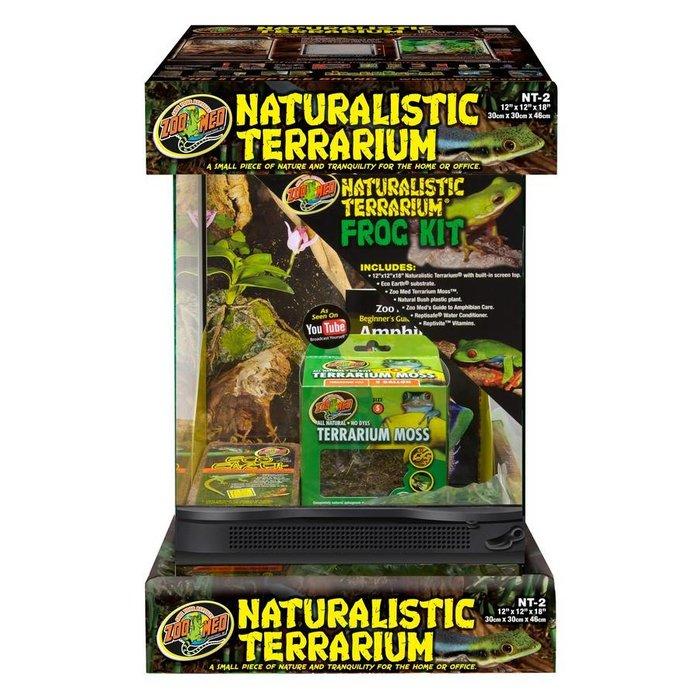 Naturalistic Terrarium Frog Kit With Terrarium (30x30x45 cm)