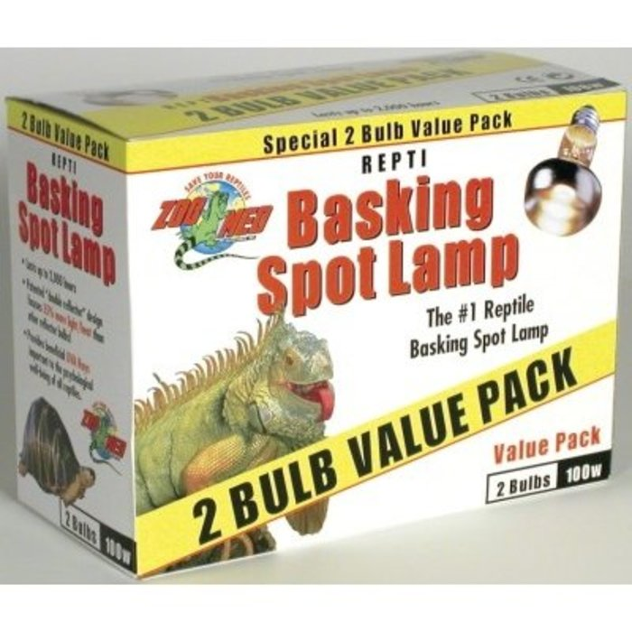 Repti Basking Spot Lamp Value Pack - 100 watt