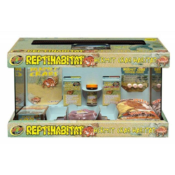 Reptihabitat Hermit Crab Kit With Terrarium (51x25x30 cm)