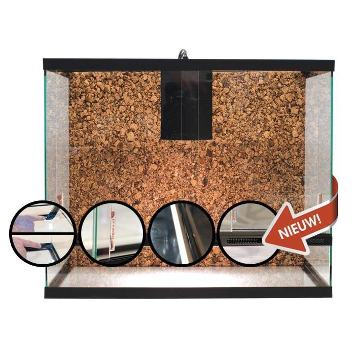Luxe Terrarium Met Achterwand 60x40x80 cm
