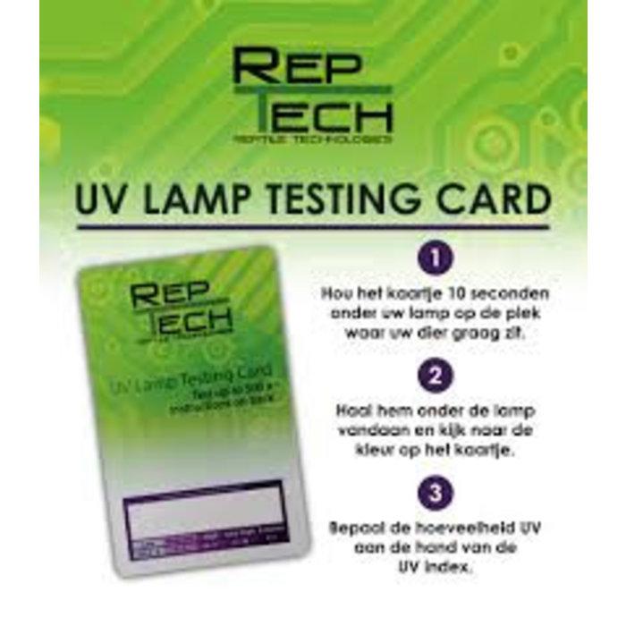 UV Lamp Testing Card