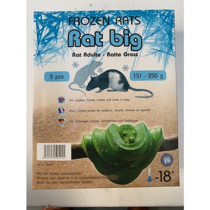 Diepvries rat groot 151-250gr 3 st