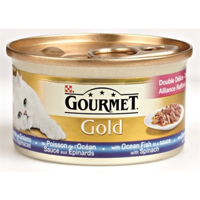 24x gourmet gold luxe mix zeevis in saus met spinazie