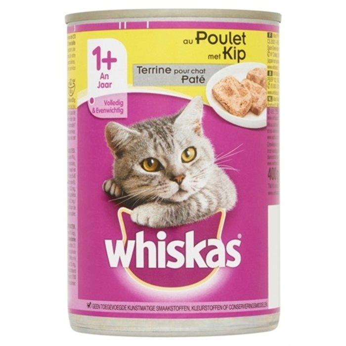 12x whiskas blik adult pate kip
