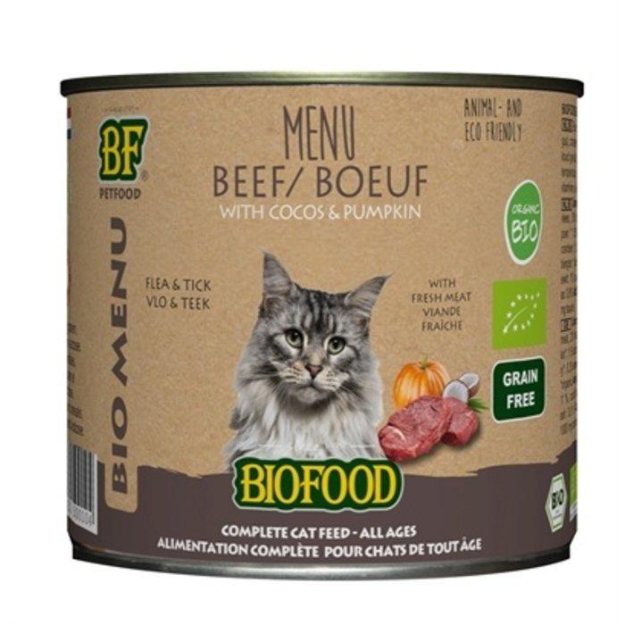 12x biofood organic kat rund menu blik