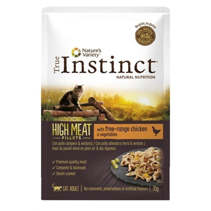 True instinct pouch high meat adult chicken fillets
