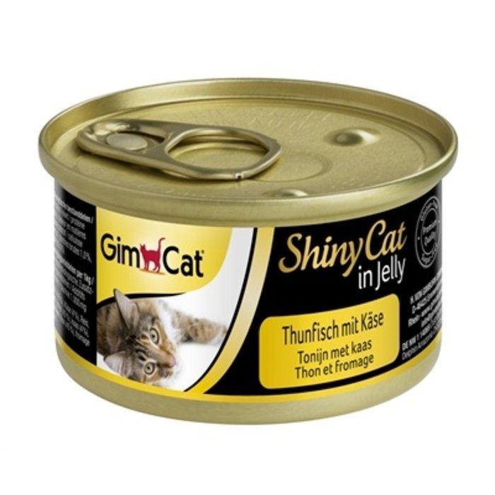 24x gimcat shinycat in jelly tonijn / kaas