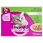 4x whiskas multipack pouch senior mix selectie vlees / vis in saus