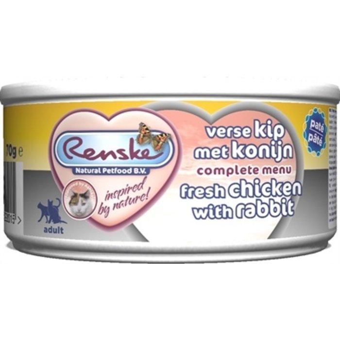 24x renske vers vlees maaltijd kat verse kip met konijn patÉ