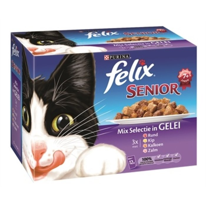 4x felix pouch senior mix selectie in gelei