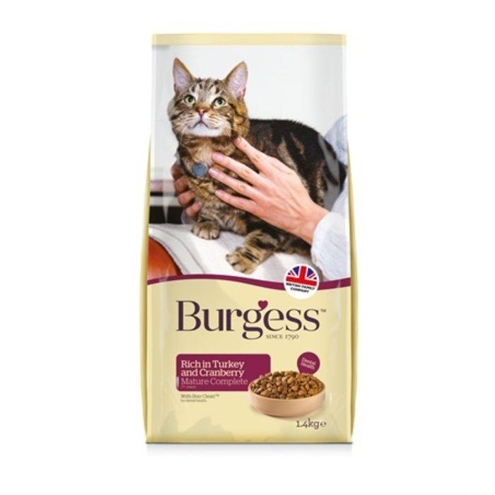 Burgess cat senior rijk aan kalkoen en cranberry
